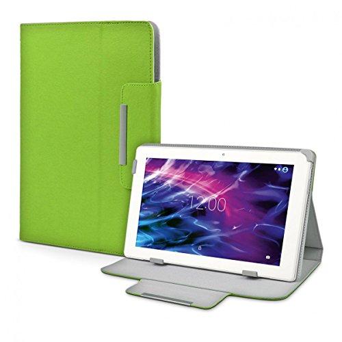 eFabrik Schutzhülle für Medion Lifetab P10356 (MD99632) Tasche Hülle Hülle Cover Schutztasche Zubehör Etui Leder-Optik grün