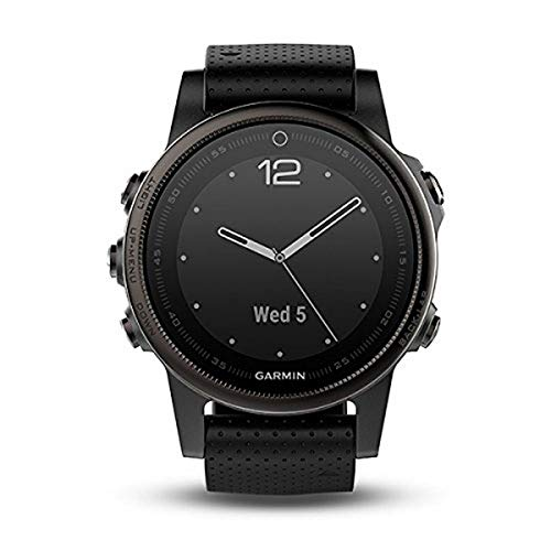 Garmin Fenix 5S Sapphire - Black with Black Band - 010-01685-11