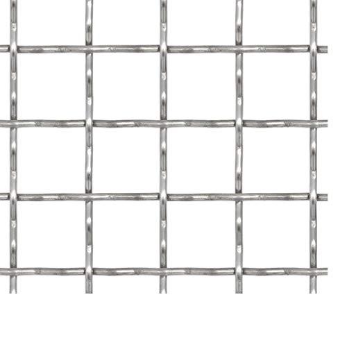Galapara Drahtgitter Wellengitter Edelstahl Gittermatte Gitter Drahtgitter, 100x85 cm, 21x21x2,5 mm