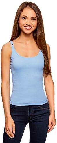 oodji Camiseta Nadadora Mujer con Ojales en los Tirantes