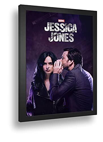 Quadro Decorativo Poste Jessica Jones Poderes Marvel
