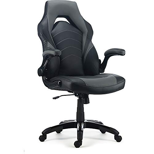 STAPLES 2829477 Gaming Chair Black and Grey