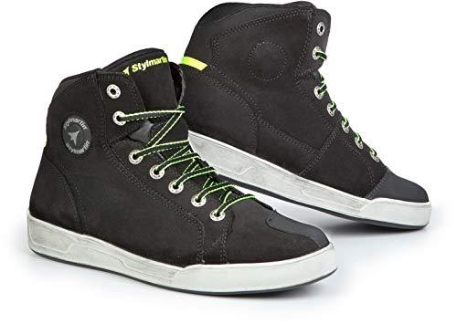 Styl Martin Moto Zapatos Botas Cortas Botas Zapatillas Seattle EVO Negro Talla 42