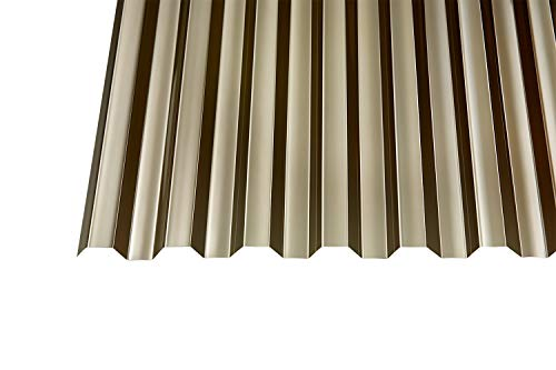 Polycarbonat Wellplatten Profilplatten Trapez 76/18 bronce ohne Struktur (2500 x 1040 mm)