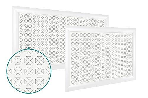 Heizkörperverkleidung | hitzebeständige MDF Platte | Heizung | Abdeckung | modern | Lüftungsgitter | verschiedene Größen | 90 x 60 cm | Elenico