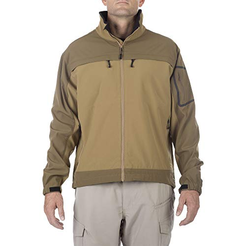 5.11 Tactical Series CHAMELEON SOFTSHELL JACKET JACKET Homme Flat Dark Earth FR : XS (Taille Fabricant : XS)