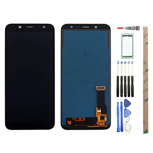 YHX-OU para 5.6Samsung Galaxy J62018j600F Pantalla táctil LCD de la Pantalla de Repuesto con Completo de Herramientas (Negro)