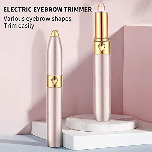 JWBOSS Eyebrow Epilator Hair Razor Brows Schmerzfreier Trimmer für Frauen, elektrisches Wachsen der Augenbrauen (Golden)