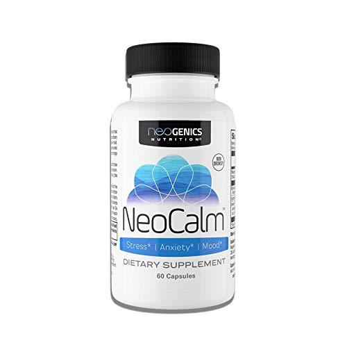 NeoCalm Stress and Anxiety Supplement Mood Pills & Stress Pills Anti Anxiety Adrenal Fatigue Supplements & Serotonin Supplements Cortisol Blocker for Women Men Anxiety and Stress Relief Supplements