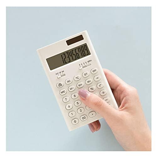 Calculadora Básica Portátil Mini Bolsillo Portátil Calculadora Solar Electrónica Suministros Escolares De Estudiantes 4.5x2.7in (Blanco) calculadora portatil