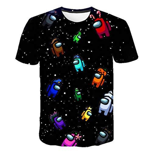 Camiseta de Juego Entre los Estados Unidos para niños, Ropa 3D, Camiseta Divertida de Dibujos Animados, Impostor gráfico, Camisetas de Verano, Disfraz, Novedad de