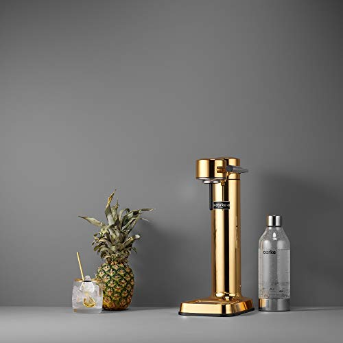 Aarke Carbonator II Water Carbonator, Stainless Steel Casing, Soda Water Carbonator, Including Polyethylene Terephthalate (PET) Bottle, Compatible with CO2 Sodastream Cylinders One Size Brass
