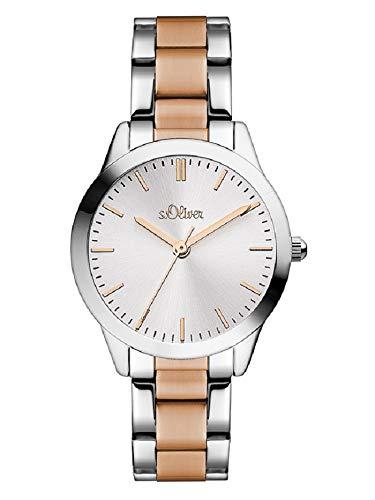 s.Oliver Damen Analog Quarz Uhr mit Edelstahl Armband SO-3439-MQ