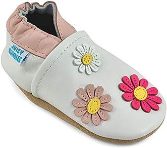 Zapatos Bebe Niña - Zapatillas Niña - Patucos Primeros Pasos - Margaritas 12-18 Meses