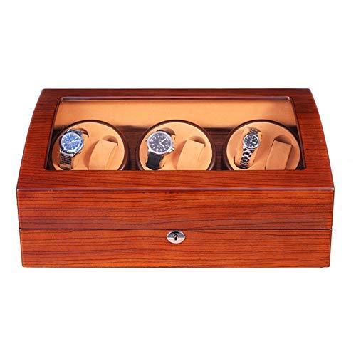Zyy Cajas Giratorias para Relojes Automatico, Grande Vitrina con Motor Japonés, 6+7 Madera Bobinadora para Relojes (Color : D)