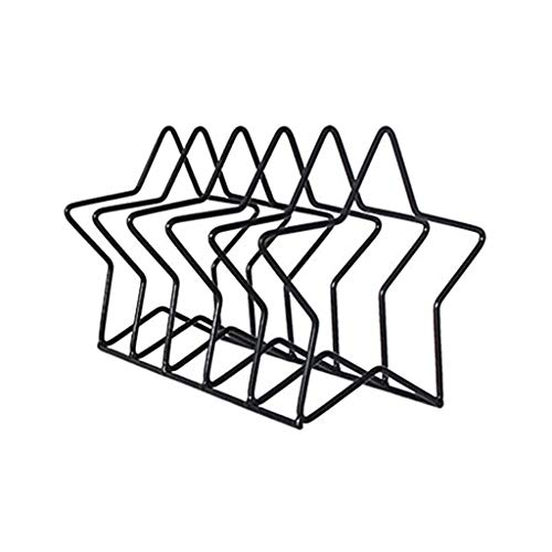 ZTTTD Minimalista escandinavo Metal estantería, Triángulo Librero Revistero Hierro Forjado Estante de Libro
