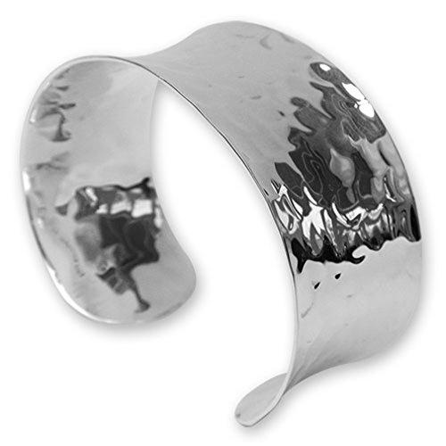 Select Gifts Sterling Silber gehämmert cuf