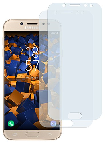 mumbi Schutzfolie kompatibel mit Samsung Galaxy J7 2017 Folie klar, Bildschirmschutzfolie (2X)