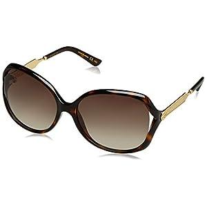 Fashion Shopping Gucci Women's Oval Sunglasses – Havana/Brown, 60-16-130