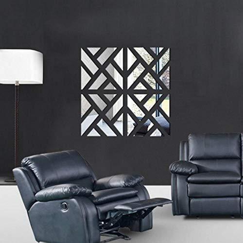 DWXN 32 Piezas de Pegatinas de Espejo Pared de Figuras Geometricas de Espejo Alto de