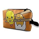 ぐでたま (1) 旅行化粧袋 巾着 化粧ポーチ便利グッズ 収納バッグ 旅行グッズ 収納袋 防水 旅行化粧バッグ バスルームポーチ 化粧バッグ