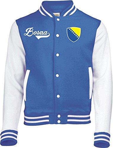 Aprom-Sports Bosnien College Jacke - Retro - Blau - 1 (L)