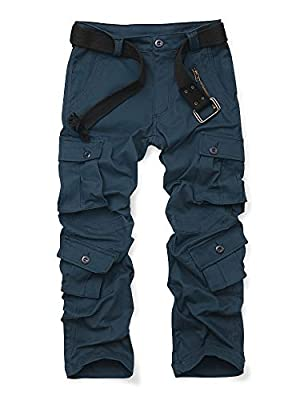 OCHENTA Women's Casual Military Cargo Pants, 8 Pockets Work Combat Outdoor Hiking Navy Tag 12 - US 8