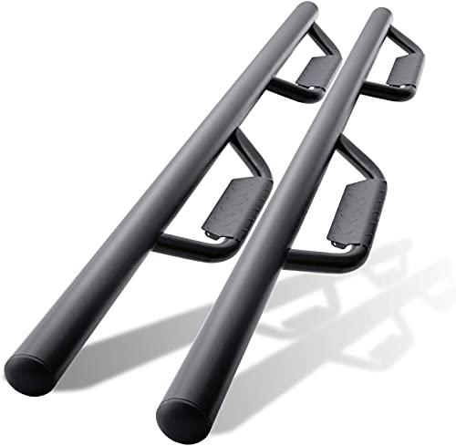 Door Side Step Nerf Bars Compatible with 2007-2018 Jeep Wrangler Running Boards 4 Door (exclude 2018...