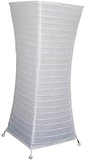 comprar comparacion Lámpara de pie, papel blanco, patas de metal–Ambiente suave de salón–58&...