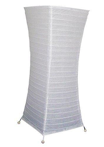 Meubletmoi Lampadaire Papier Blanc Pieds métal - Ambiance Douce Salon - 58 cm