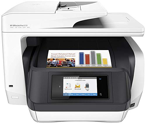 HP Officejet Pro 8720 - Impresora multifunción color wifi fax, color blanco
