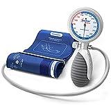 AIESI® Esfigmomanometro Manual Profesional Aneroide Tensiómetro palmar con brazalete de nylon para...