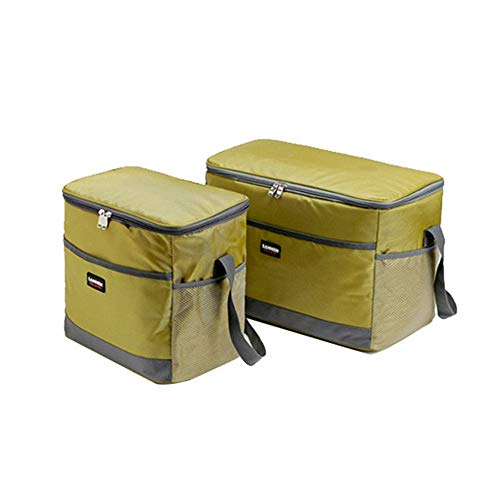 VISTANIA 2 Pack Adult Insulated Lunch Bag Medium Cool Bag For Men And Women Leakproof LinerGreen
