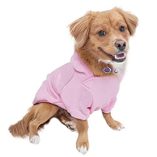 Eastlion Hund Pullover Welpen-T-Shirt Warm Pullover Mantel Pet Kleidung Bekleidung, Pink, Gr. XXL