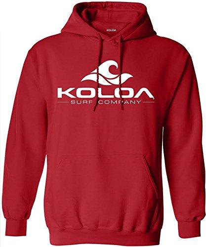 Koloa Surf Classic Wave Tall Hoodie-Red/w-2XLT