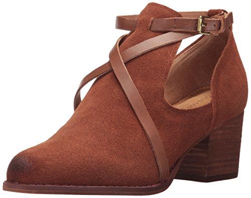 Opportunity Shoes - Corso Como Women's Hanna Fashion Boot, Cognac Split Suede/Cognac Burnish, 6.5 Medium US