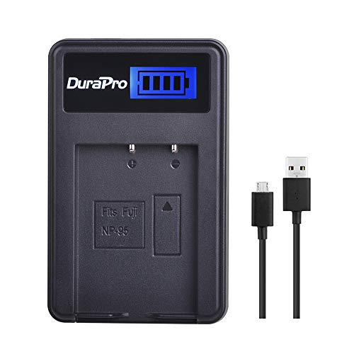 DuraPro LCD USB Battery Charger for Fuji NP 95 NP-95 Fuji Finexpix F30, F30 Zoom, F31, F31 fd, F31fd, Real 3D W1, X100, X100s, X-S1 Batteries
