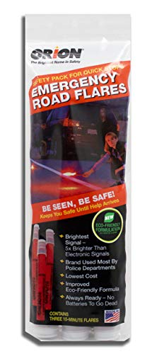Orion Safety Products 3153-08 3-15 Minute Road Flares (1 Pack of 3 Flares)- Model # 3153-08