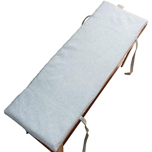 Cojín para Tumbona de Exterior Colchoneta para Sillas de Jardín Acolchado Cómoda, Fácil de Limpiar, Diseño Ergonomico, Cojín Grueso de 2cm, Cojín para Tumbona de Jardín,Light blue,87x28x2cm