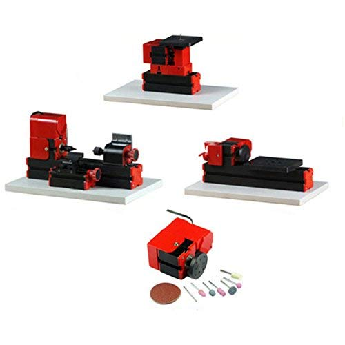 New ZYL-YL 4 in 1 Mini Lathe Machine Kit Didactical 4 in 1 Mini Kit 24W 20000rpm DIY Toy Lathe for T...