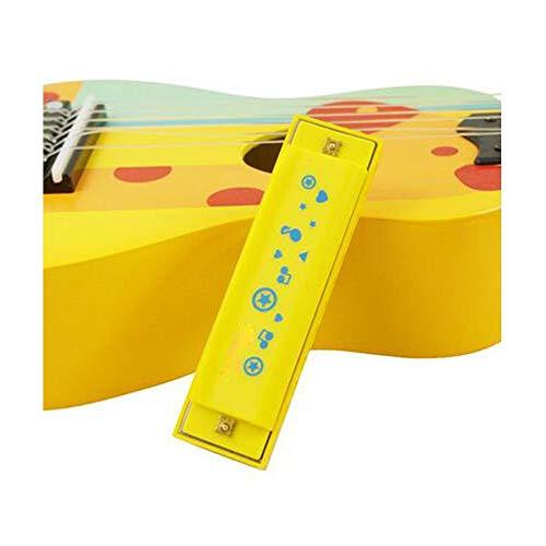 Gaoxingbianlidian001 - Armónica para niños con silbato, amarillo