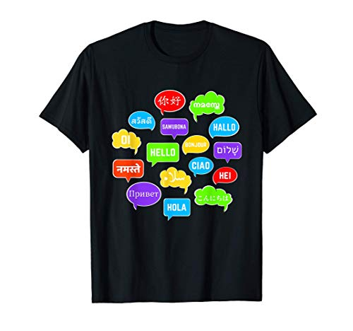 Multilingual Hello Speech Bubbles Globetrotter & Translator T-Shirt