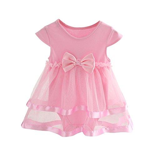 Brightup Bébé Fille Naissance Casual Robe de Tulle vêtements pour 0-2 Ans