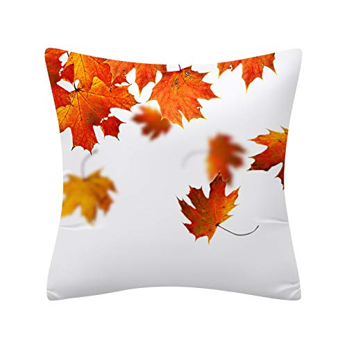 AMhomely Christmas Decorations Sale Watercolor Pumpkin Cushions Cover Heart Halloween Thanksgiving Merry Christmas Decorative Xmas Decor Ornaments Party Decor Gift