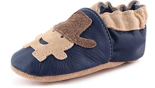 Ladeheid Zapatos de Bebé Niña Niño de Piel Suave con Suela de...