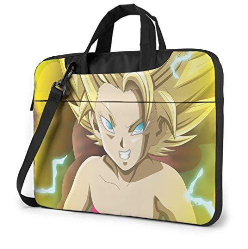 14 Inch Laptop Bag Dragon Ball Super Laptop Shoulder Bag with Zipper and Pockets, Laptop Sleeve Shoulder Bag for Women and Men, Anime Saiyan Handbag