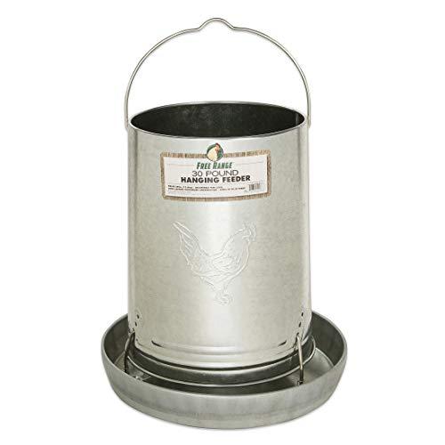 HARRIS FARMS LLC Hanging Poultry Feeder, Galvanized Steel, 30-Lb. Capacity