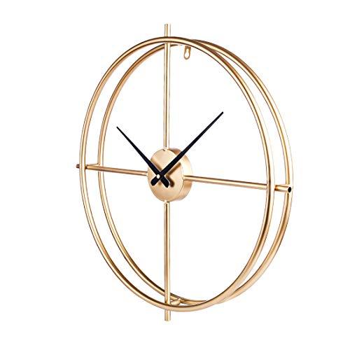 Touchmark Schlichte Wanduhr, Uhr Wand 50CM Retro Dekorative Geräuscharm Lautlos Wanduhr für Wohnzimmer, Gold