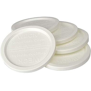 WECK JAR 5 PACK KEEP FRESH PLASTIC LIDS, 5 PACK (SMALL = 2 3/8 , 60mm) Fits models 080, 755, 760, 761, 762, 763, 764, 766, 902, 905, 975, 995
