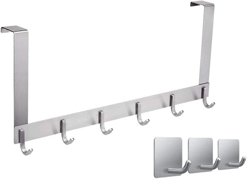 Albuquerque Mall YULAN Hooks 304 Stainless Steel Non-Perforated Hook Door Excellent Hanger